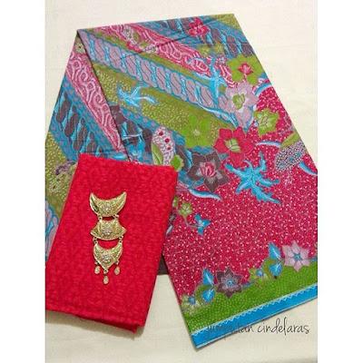 kain-batik-printing-embos-merah