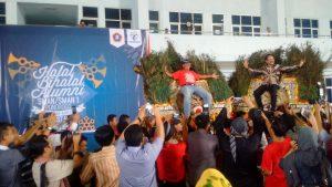 Atraksi Reyog Alumni SMAN 1 Ponorogo Di Lanud Halim Perdana Kusuma