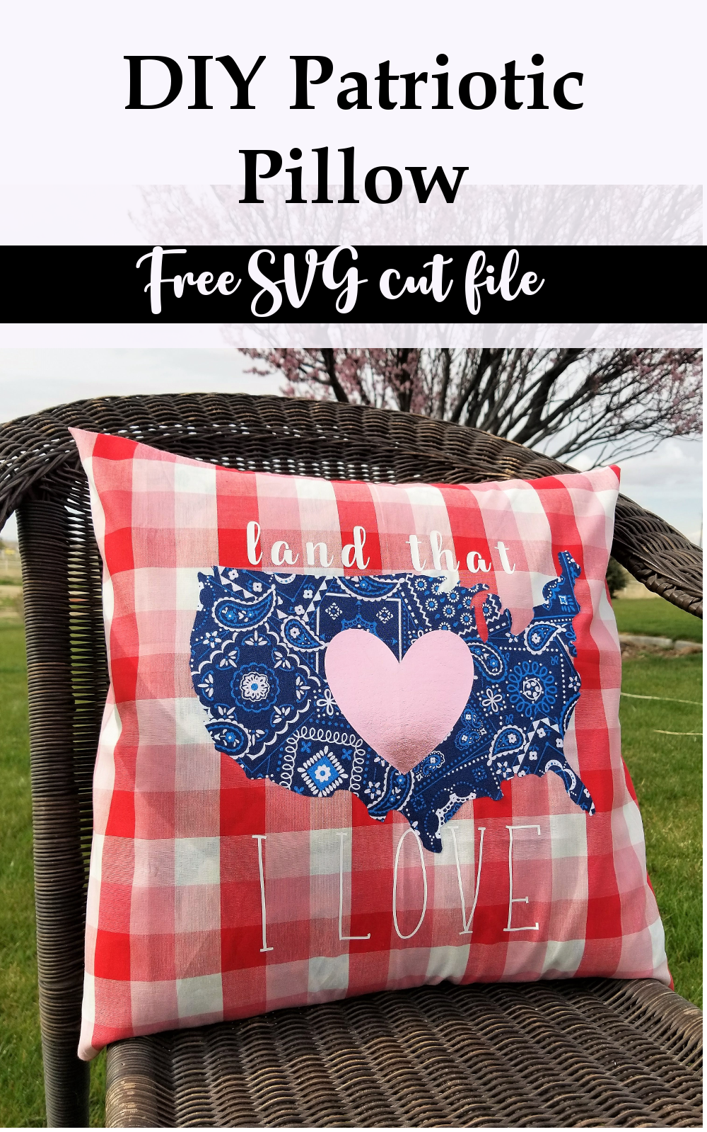 Free Patriotic Pillow Pattern with PDF and SVG file - GYCT Designs
