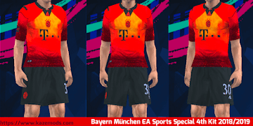 313e2ca53 Bayern München EA Sports Special 4th Kit 2018 19 PES 2014 PSP (PPSSPP)
