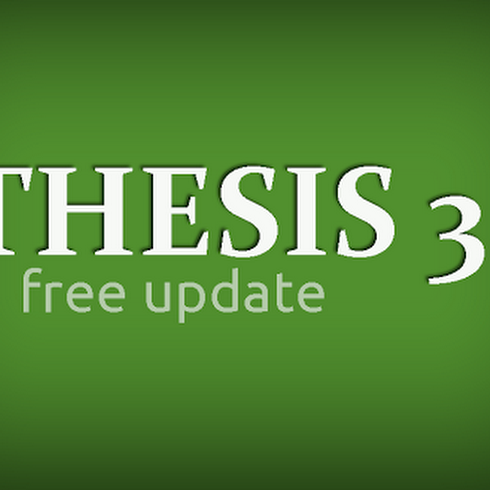 Thesis Blogger Template version 3.1
