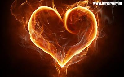 Koncentráció a szívedben lévő lángra