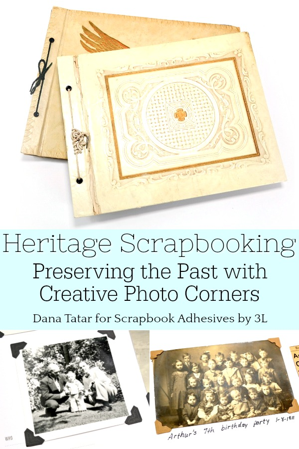 Heritage Scrapbooking with Creative Photo Corners from Scrapbook Adhesives by 3L