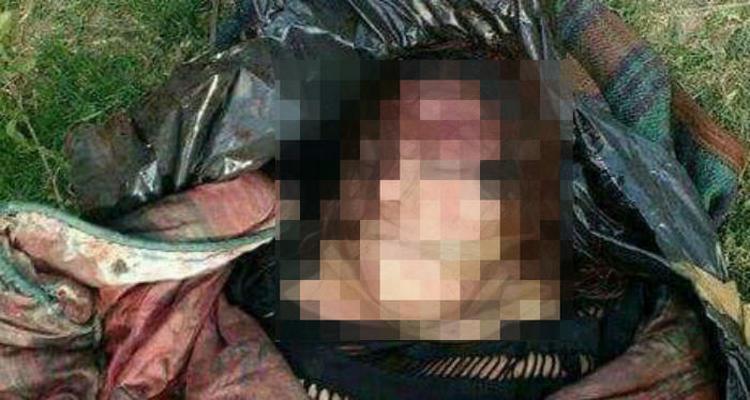 Encuentran ejecutada a mujer encobijado y envuelto con una bolsa de plástico en Tamaulipas.