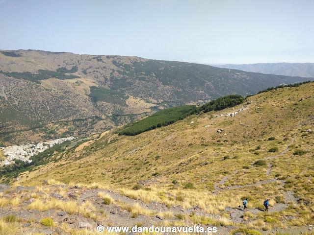 Bajada hasta Trevélez, Mirador de Trevélez subida al Mulhacén