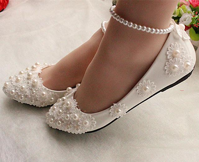 Flat Wedding Sandals For Bride