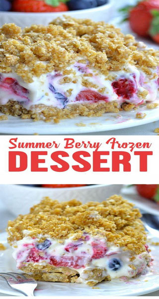 Summer Berry Frozen Dessert Recipe