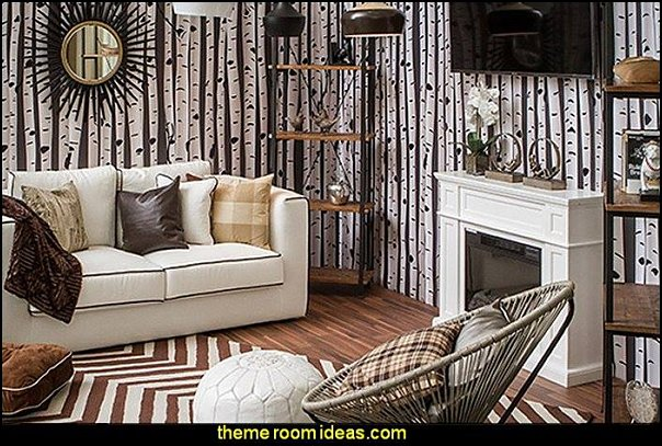 chic mountain retreat modern rustic style decorating ideas