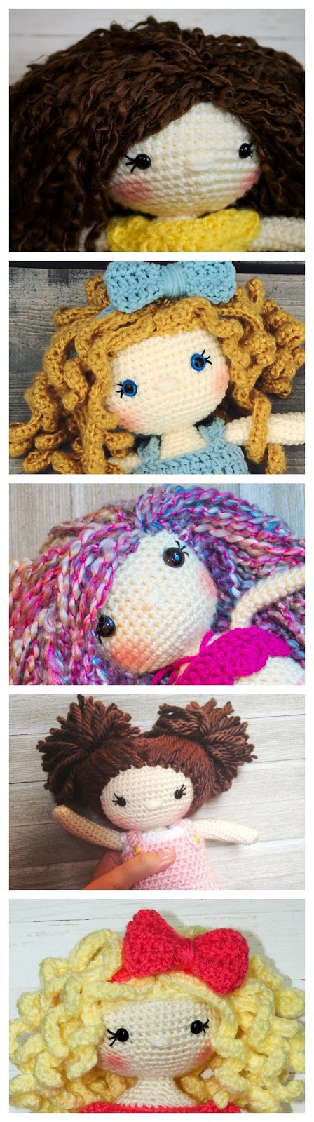 How to Crochet Curly Doll Hair - YouTube | 1600x448