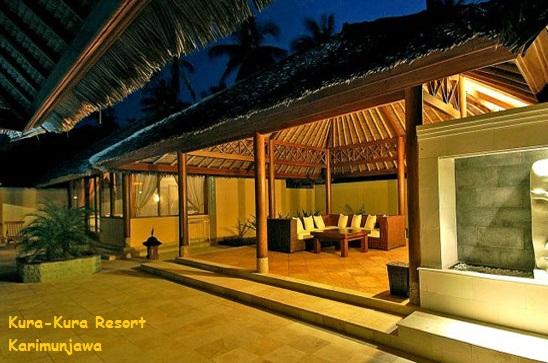 ruang tamu di villa kura kura resort karimunjawa