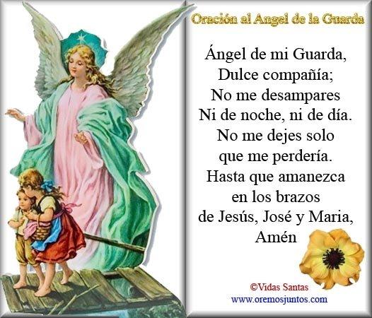 Rincón De La Oración Estampas Oraciones Del ángel De La Guarda