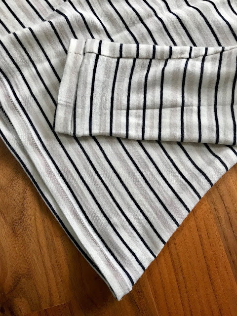 Diary of a Chain Stitcher: Striped Merino Seamwork Neenah Turtleneck
