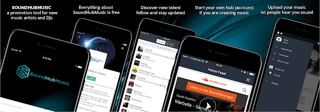 soundhubmusic new app designed by disenoideas