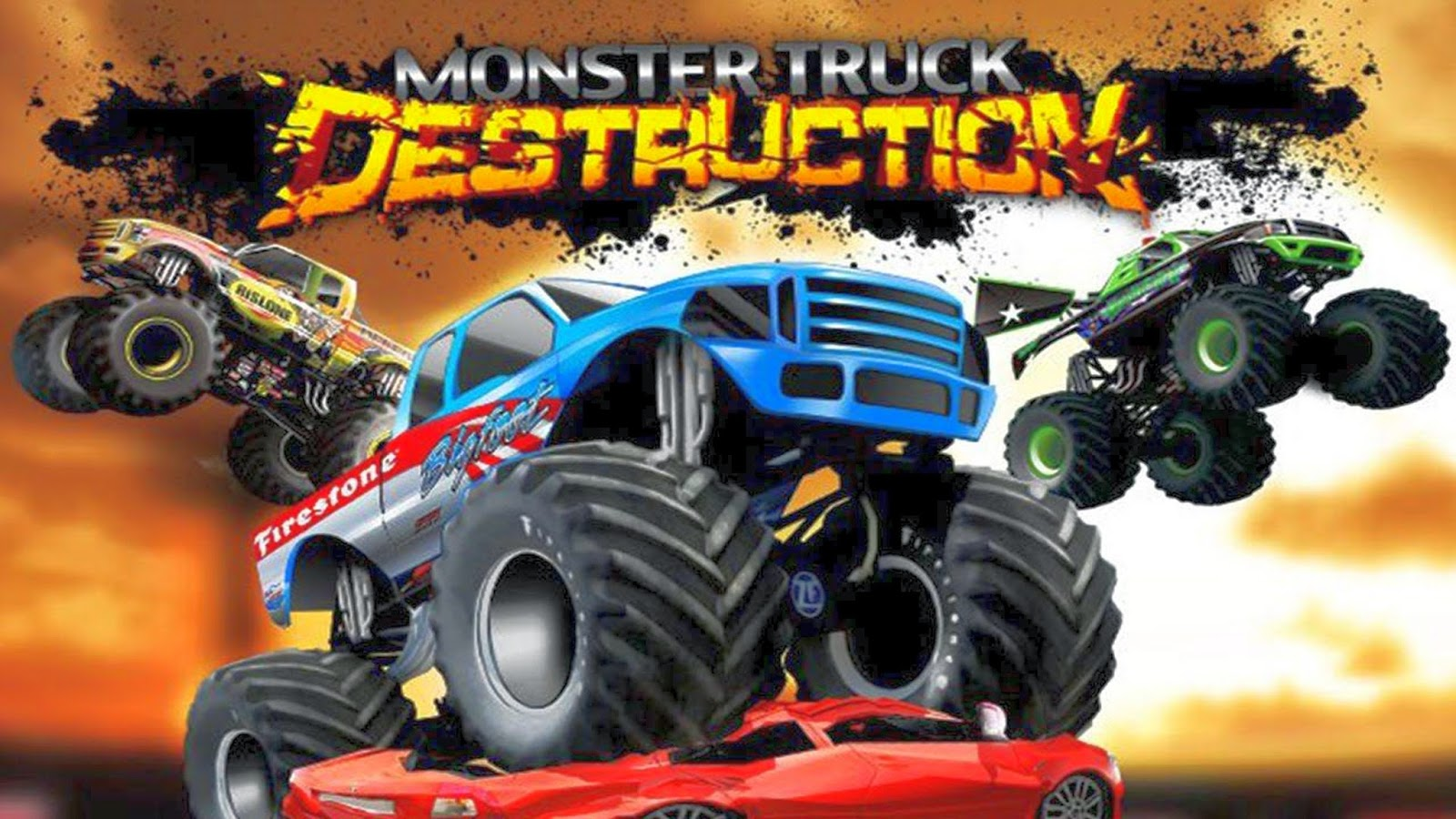 WALLPAPER MONSTER TRUCK DESTRUCTION Gambar Kartun Lucu Dan
