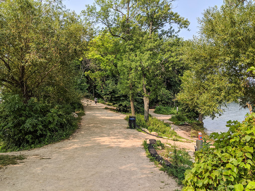 Picnic Point Trail at Intersection with Lake Mendota Path