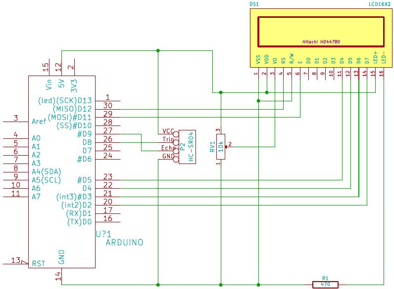 Esquematico HC-SR04 y Arduino