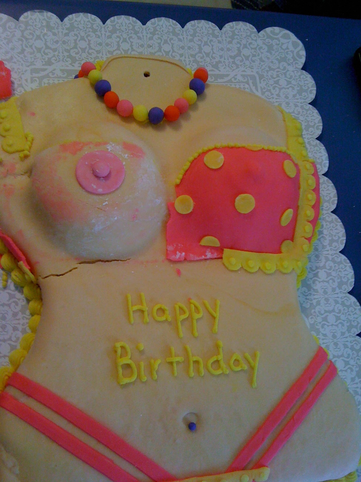 Fancy Frosting Sexy Birthday Cake