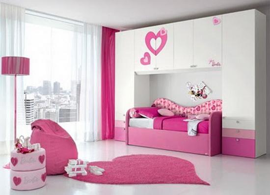 d coration chambre fille. Black Bedroom Furniture Sets. Home Design Ideas