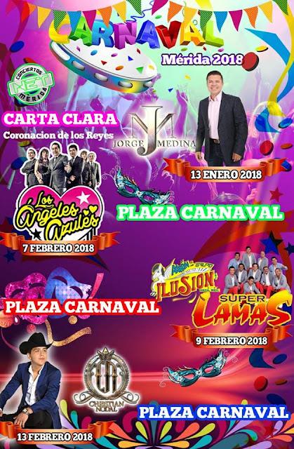 carnaval mérida 2018