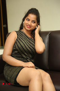 Actress Sirisha  Pictures in Shorts Dress at Follow Follow U Trailer Launch  0043