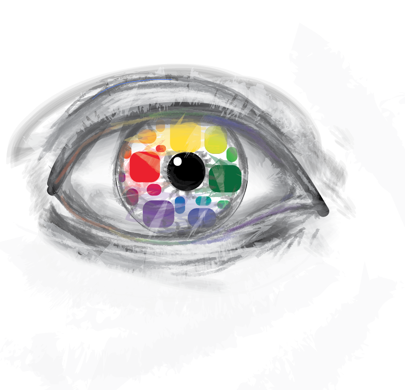 This Is My Creative Color Wheel I Had The Idea To Make In Eye Because Always Draw Eyes Am Very Happy Of How It Turned Out