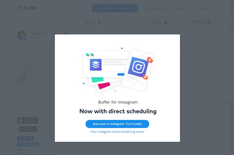 Buffer simplifies your Twitter marketing and helps drive web traffic