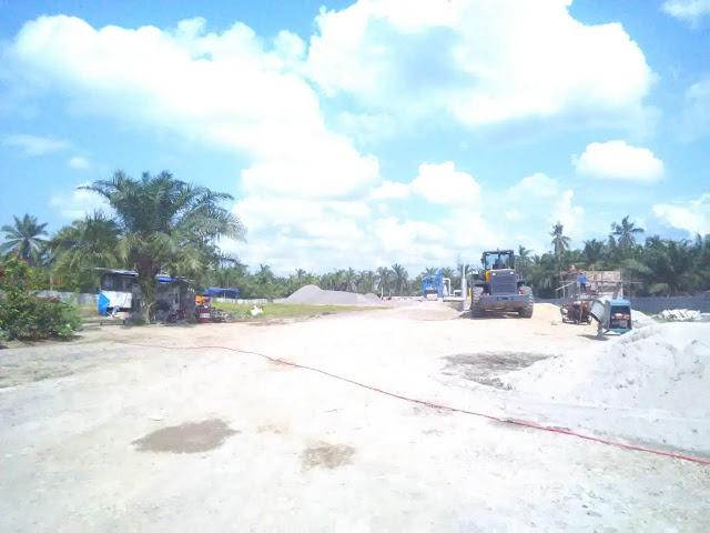 Lokasi pabrik aspal di Asahan.