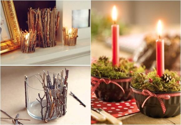Marzua velas en navidad for Decoraciones rusticas para navidad