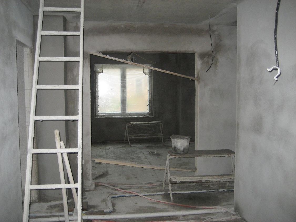 hausbau der grashorns von tm bau putz an der wand elektrik im haus. Black Bedroom Furniture Sets. Home Design Ideas