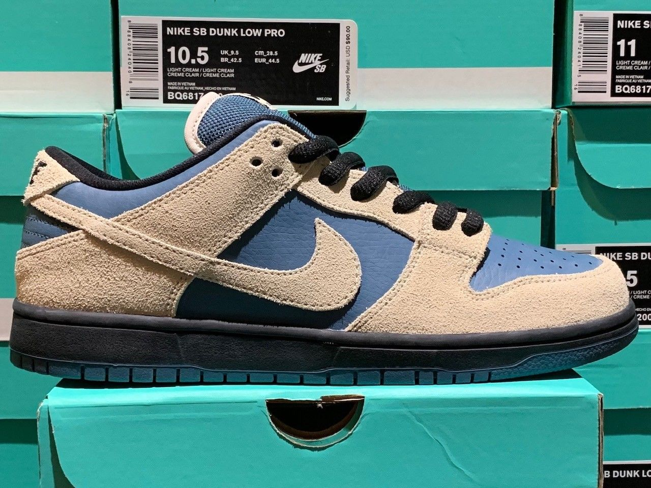 cf8c1c727fe Where to Buy Nike SB Dunk Low Light Cream Blue