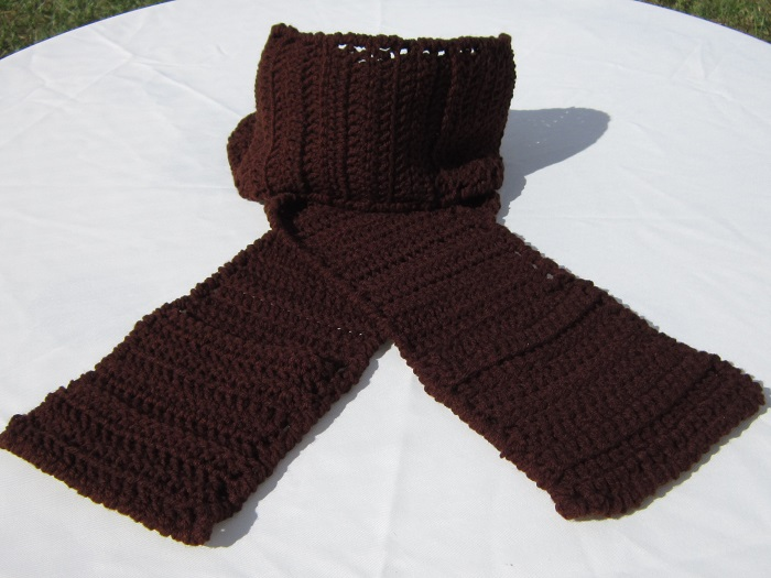 crochet, free pattern, scarf, pocket, double crochet, easy
