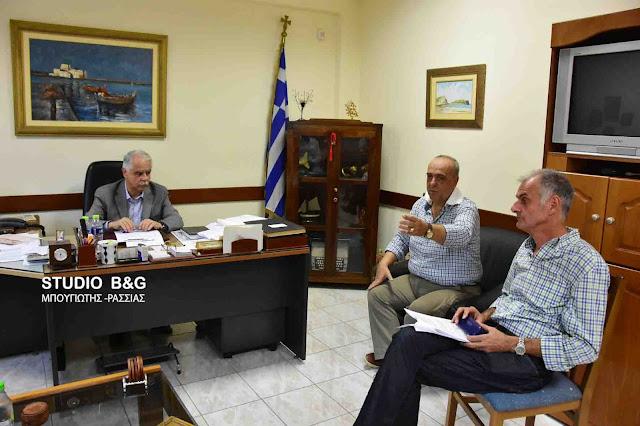 Συνάντηση της διοίκησης του Εργατικού Κέντρου Ναυπλίου Ερμιονίδας με τον Υφυπουργό Εσωτερικών Γιάννη Μπαλάφα
