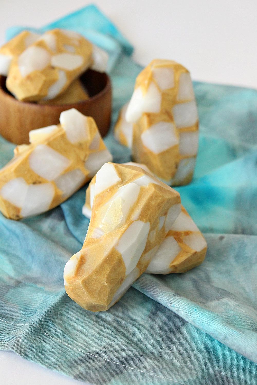 DIY Gemstone Soap