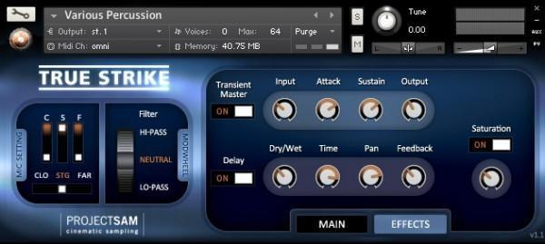 ProjectSAM - True Strike 1 KONTAKT Library
