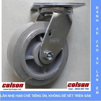 Bánh xe cao su đặc xoay phi 150 Colson chịu lực 270kg | 4-6109-459 www.banhxedayhang.net