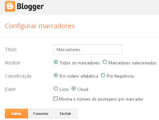 gadget de marcadores do blogger