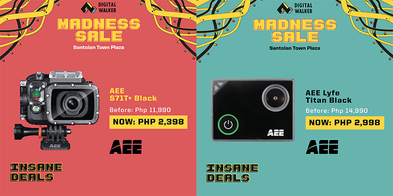The AEE S71T+ Black and AEE Lyfe Titan action cameras