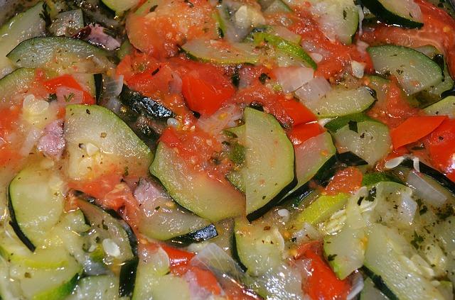 Saute Zucchini, Onions, and Tomatoes