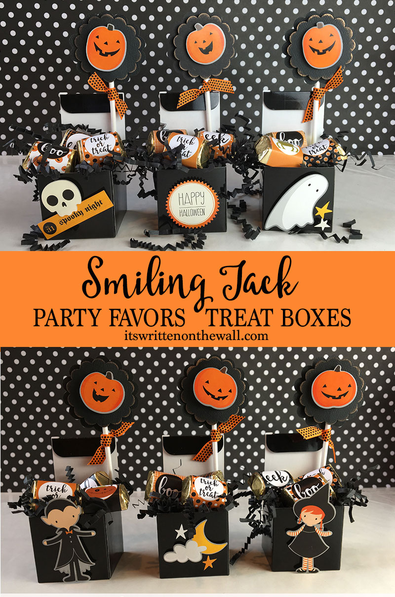 it's written on the wall: halloween - smiling jack party favors