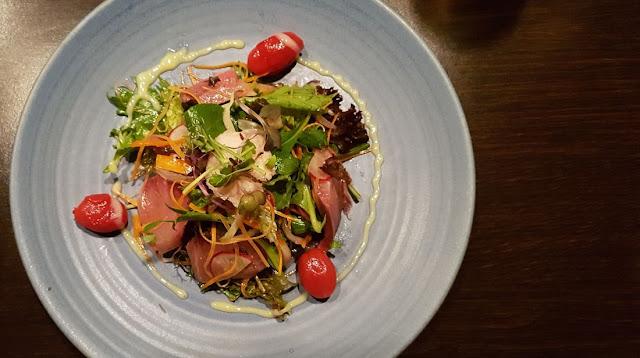 Tatsumi, Newmarket, New Zealand, sashimi salad