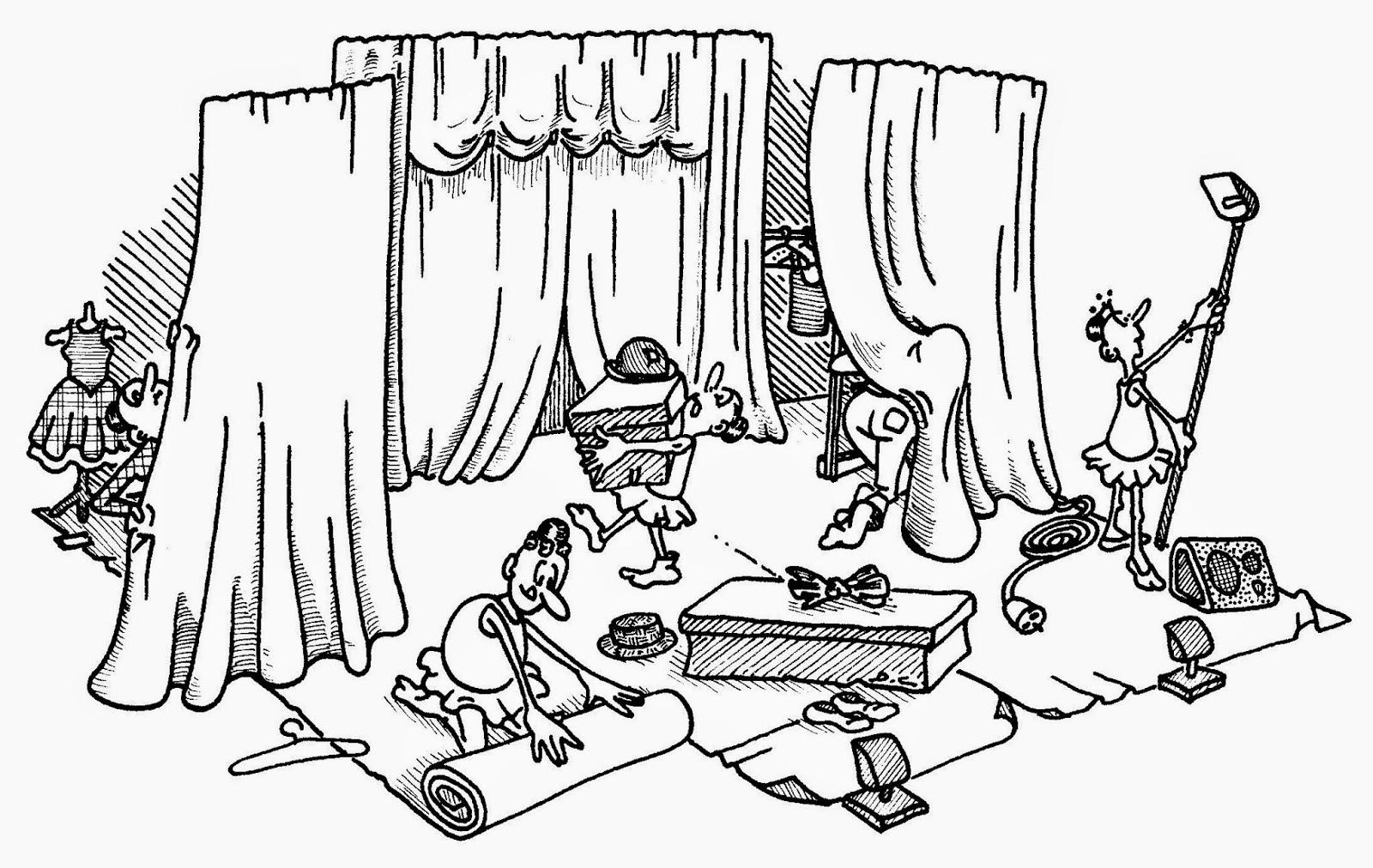 Th tre de la devanture humour - Dessin de theatre ...