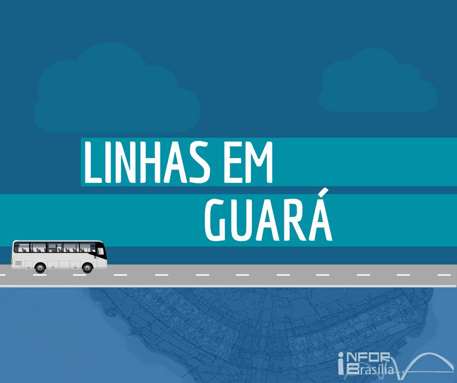 Horário de ônibus das linhas do Guará