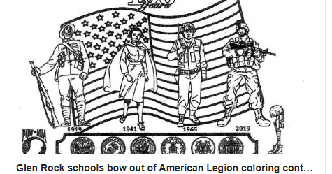 NJ elementary school bows out of American Legion coloring