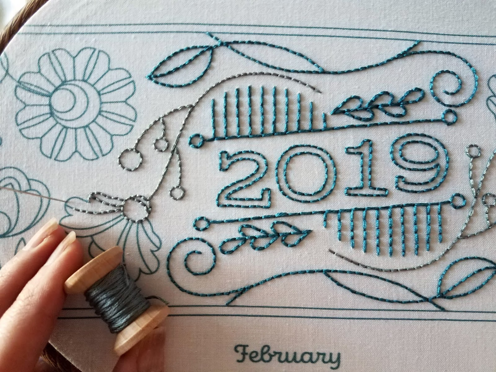floresita's progress on Septemberhouse 2019 Fabric Calendar as featured on Feeling Stitchy