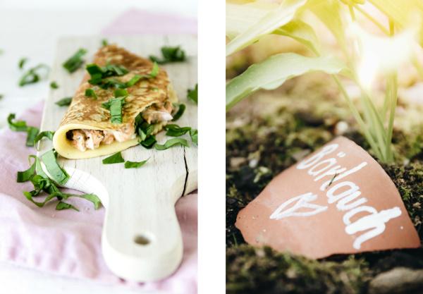 So schmeckt der Frühling: Rezept für leckere herzhafte Eier-Pfannkuchen mit Bärlauch-Creme.