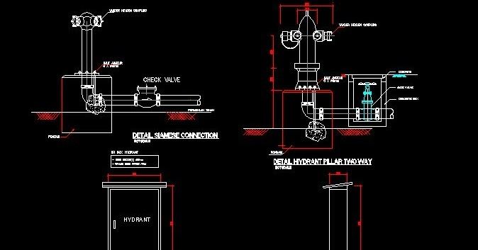 DOWNLOAD GAMBAR AUTOCAD Gambar AutoCAD Detail Hydrant