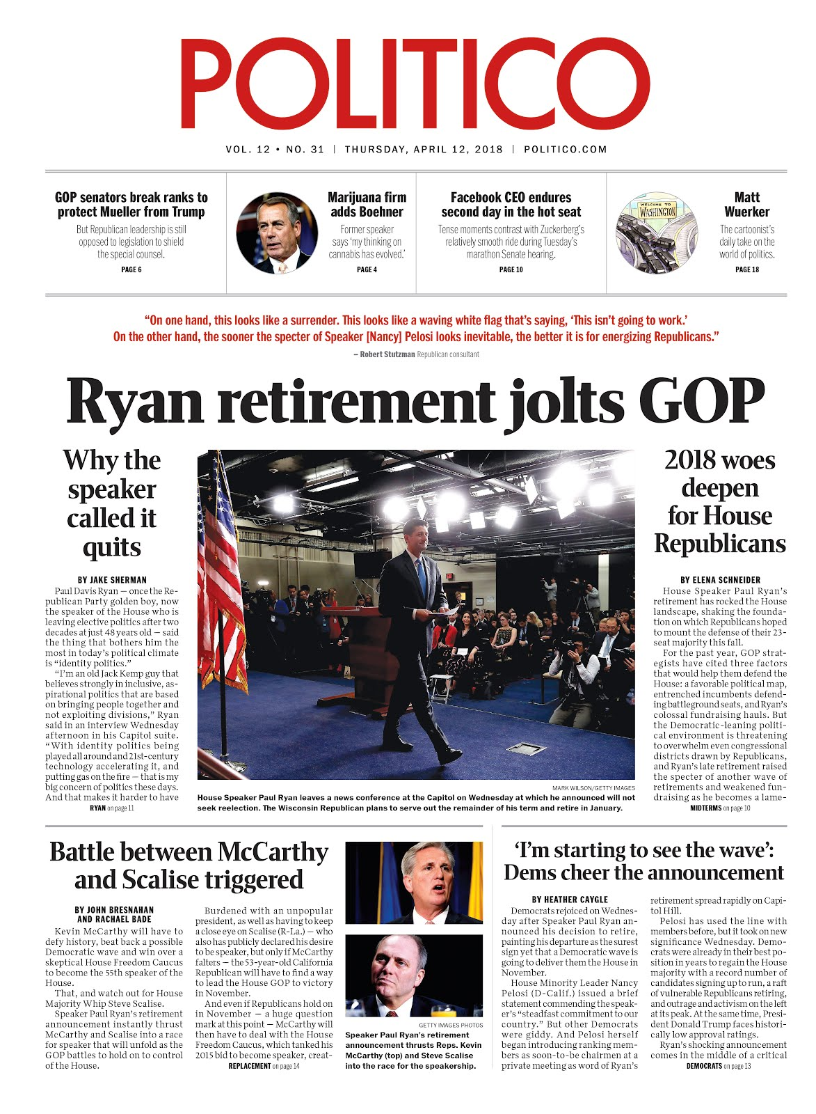 Ryan retirement jolts GOP