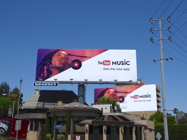Daily Billboard: YouTube Music app billboards    Advertising for