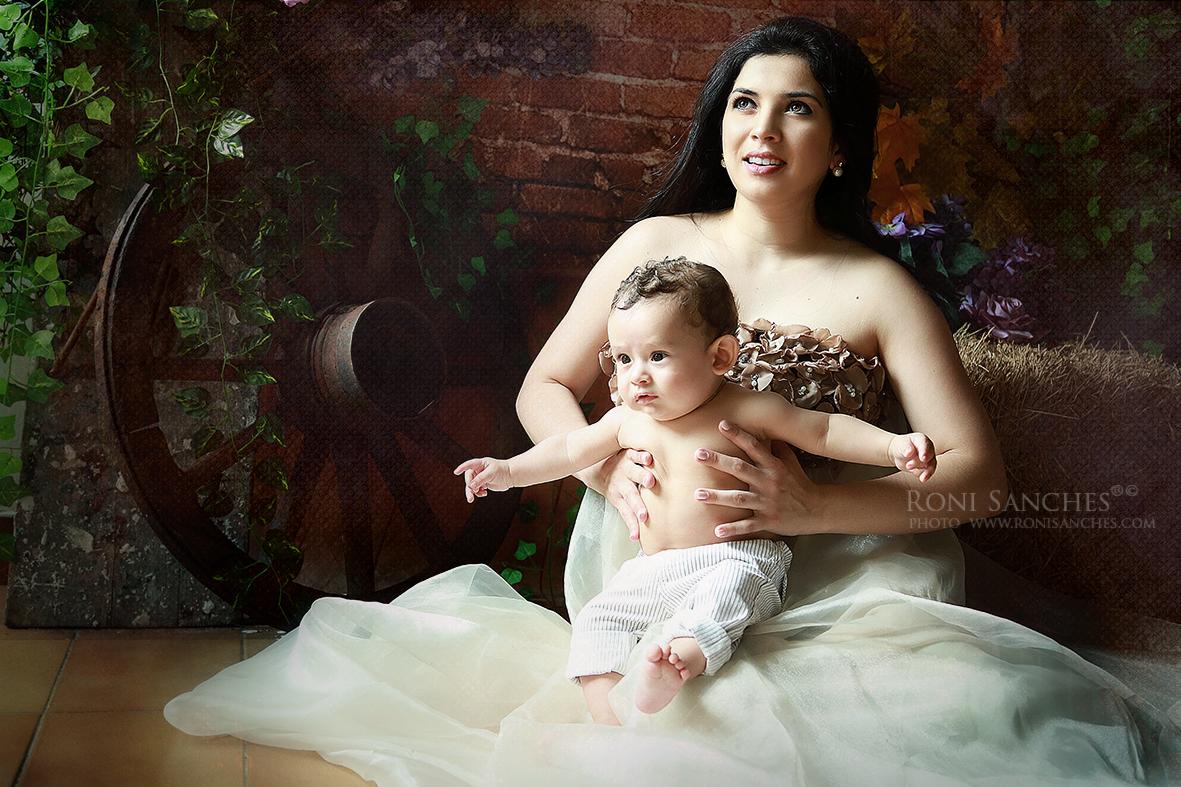 book de bebê com a mamãe