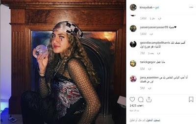 كنزى عمرو دياب, اثارة الجدل, بلوزة شفافة, بلوزة كنزى عمرو دياب, اطلالة غريبة,